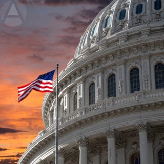 A gorgeous sunset over the US Capital Building where the SECURE Act was recently enacted into law.